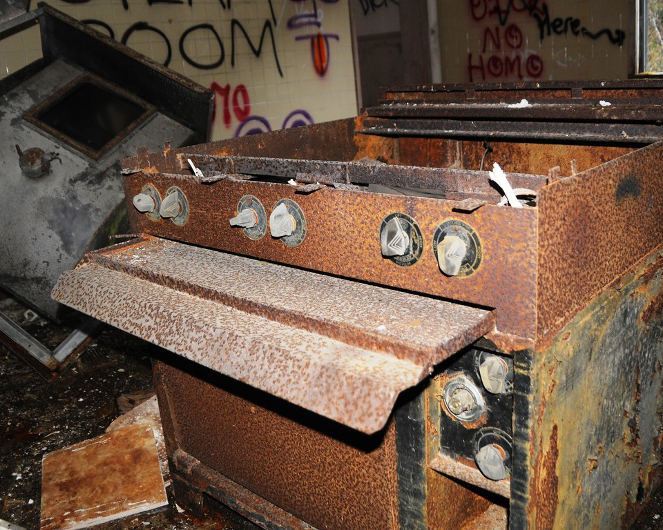 Buckner Building - Stove - Abandoned - Whittier - Alaska - USA