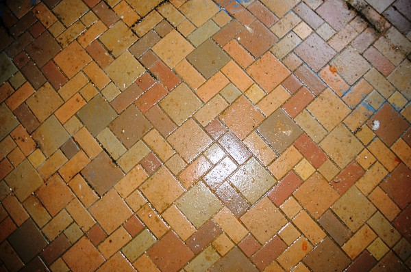 Buckner Building - Tile on Floor - Abandoned - Whittier - Alaska - USA