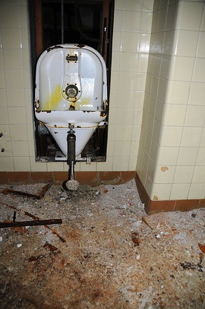 Buckner Building - Urinal - Abandoned - Whittier - Alaska - USA