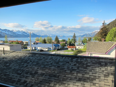 Seward view from our living room 310 lodging
