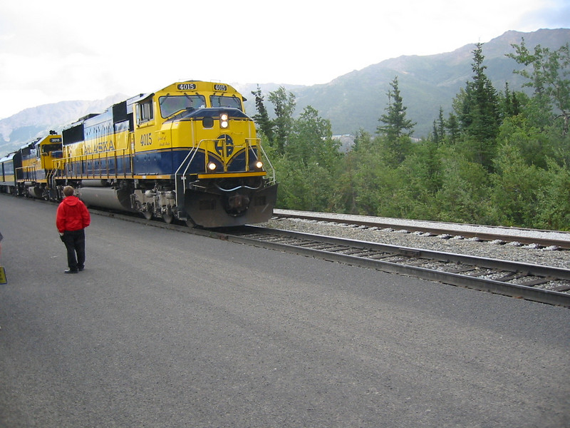 The train arrives at Denali.