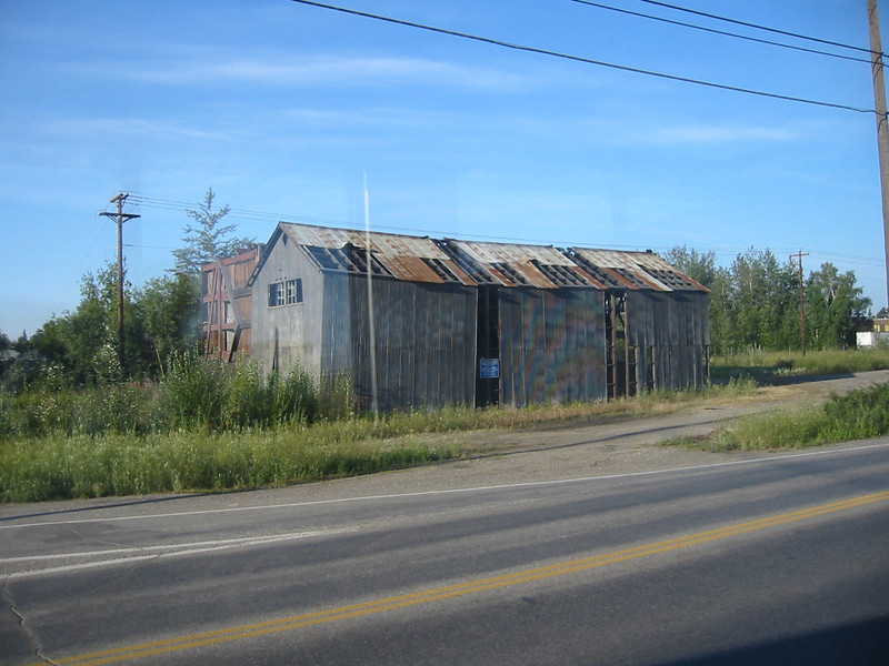 A building in Fairbanks, right next to the train station, that I wouldn't want to inhabit during the winter.