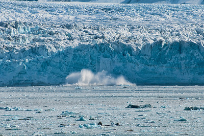Part of the glacier calving.