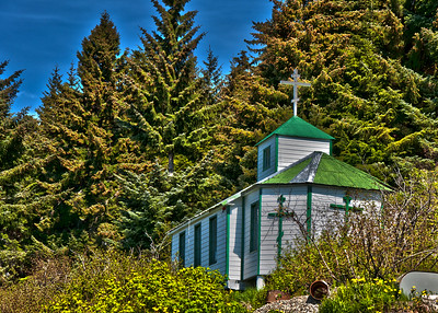 An old church in Hoonah.