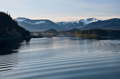 The town of Hoonah is around the corner.  It's a very small town in Alaska.