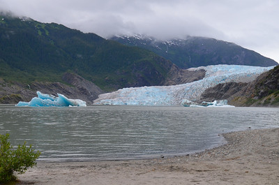 Mendenhall Glacier is a glacier about 12 miles (19 km) long located in Mendenhall Valley, about 12 miles (19 km) from downtown Juneau in the southeast area of the U.S. state of Alaska.(http://en.wikipedia.org/wiki/Mendenhall_Glacier)