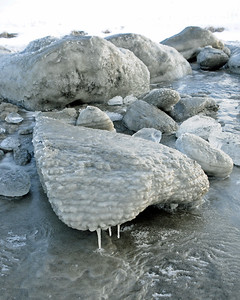 Ice on Kenai Beach - Kenai - Kenai Peninsula - Alaska - USA