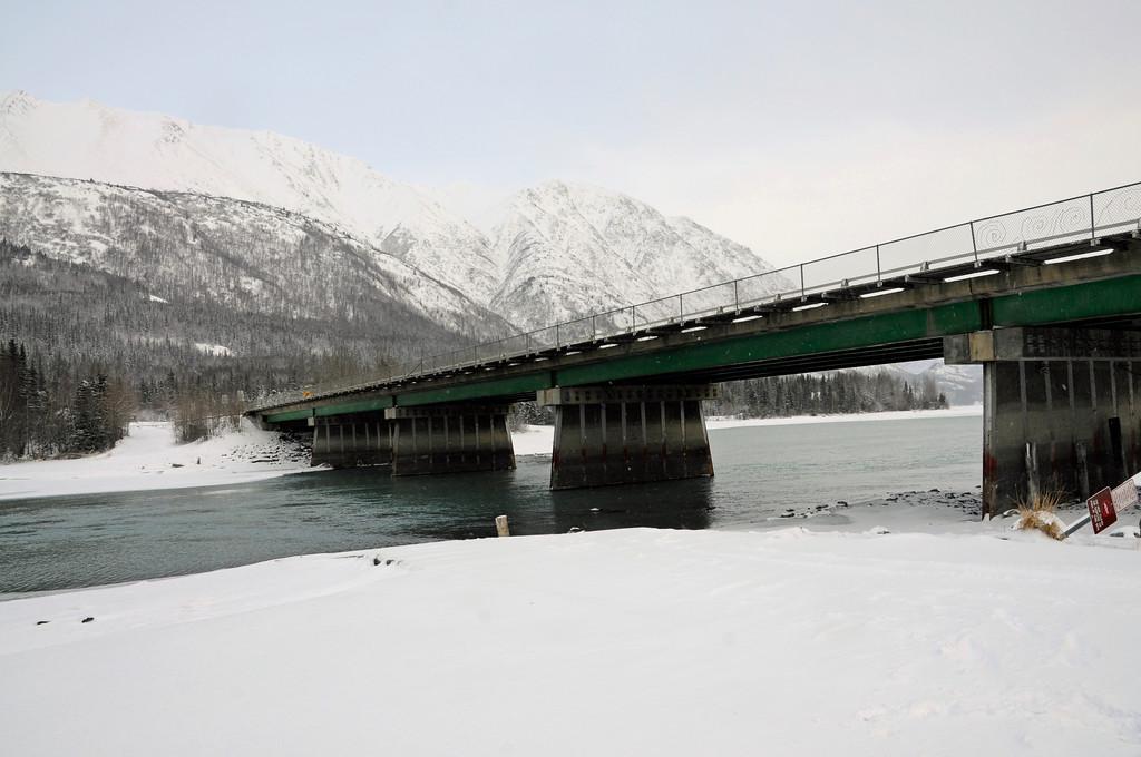 Kenai River Bridge - Cooper Landing - Kenai Peninsula - Alaska - USA
