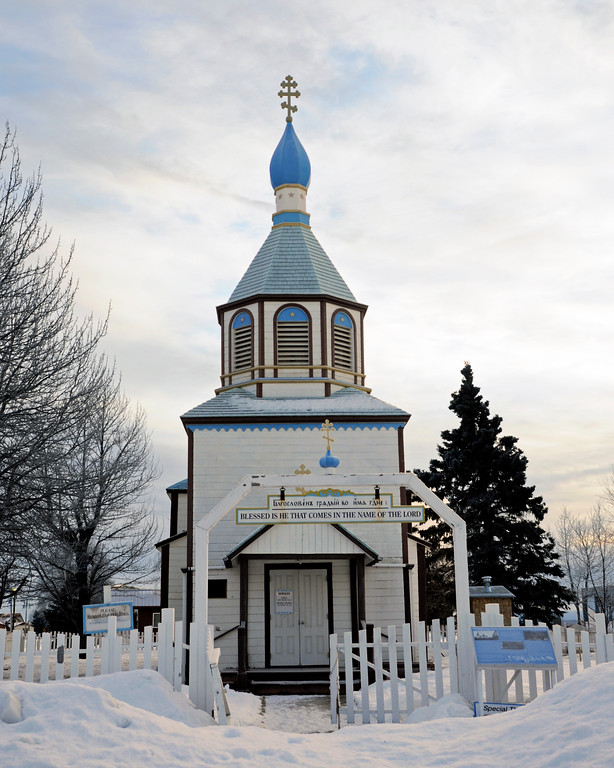 Russian Orthodox Church - Historical Building -  Kenai - Kenai Peninsula - Alaska - USA