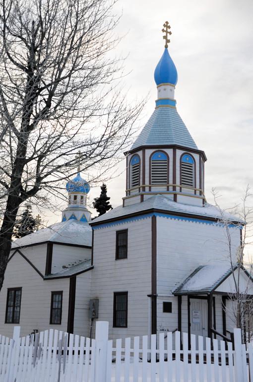 Russian Orthodox Church - Historical Building -  Kenai - Kenai Peninsula - Alaska - USA