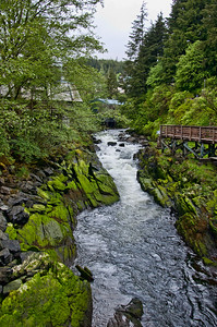 The Cross Creek area in Ketchikan where salmon run later in the year.