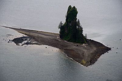 This is all that's left of a volcano.  The very tip of the volcano here still is visible as the rest has sunk into the lake.