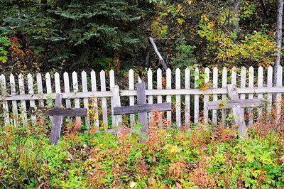 Kennicott Cemetary - Wagon Trail - Kennicott - Alaska _USA