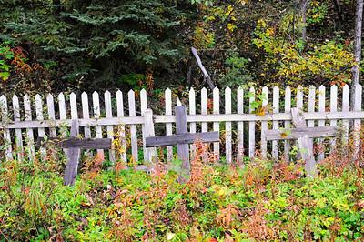 Kennicott Cemetary - Wagon Trail - Kennicott - Alaska _USA