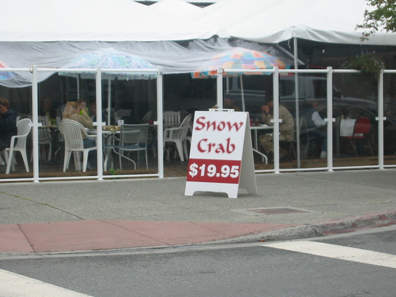 Seafood is ubiquitous in Anchorage.