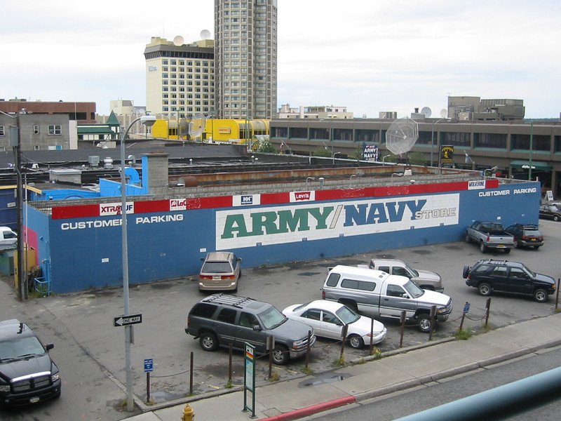 Anchorage has zillions of army surplus stores for some reason.