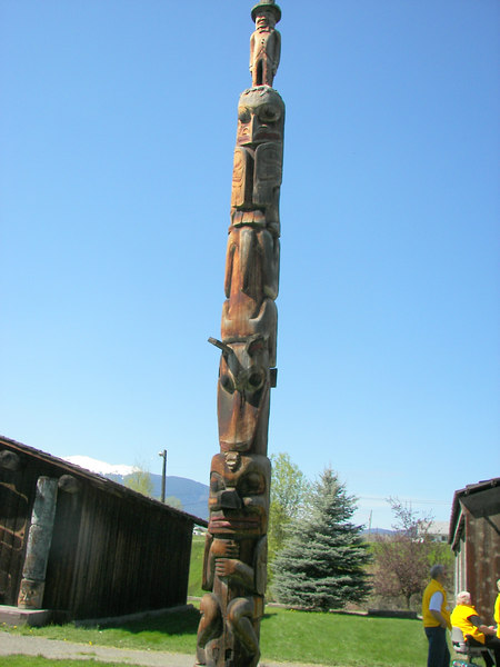 The bare Mother Totem Pole.