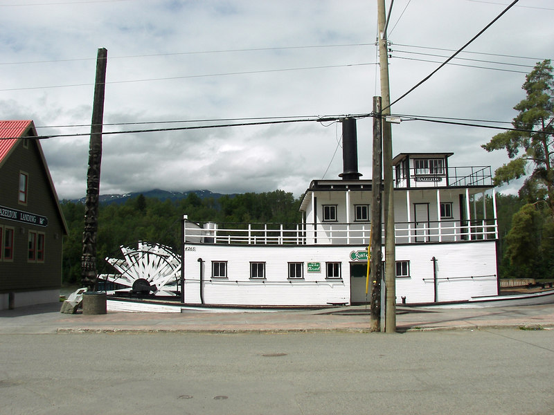 From 1886 to 1913 Hazelton was the upriver terminus for a fleet of sternwheelers that plied the wild rapids of the Skeena. People and supplies reaching Hazelton were then dispersed inland to mines, farms and far-flung settlements.