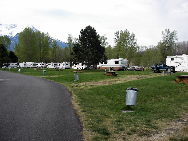 The campground at the 'Ksan Historical Village near Hazleton, BC is the starting point of the tour. From here we go to Hyder, AK. The start of the great adventure.