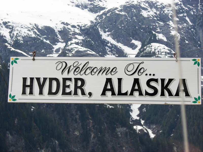 We made it to Hyder, AK.