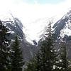Mountains above Salmon Glacier.