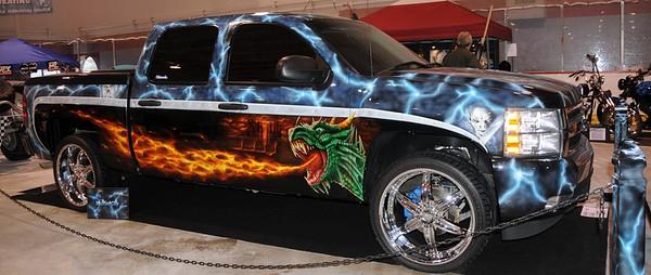 "Truck - ""Dragon Slayer"" - Transportation - Car and Cycle Show - Eagle River - Alaska - USA"