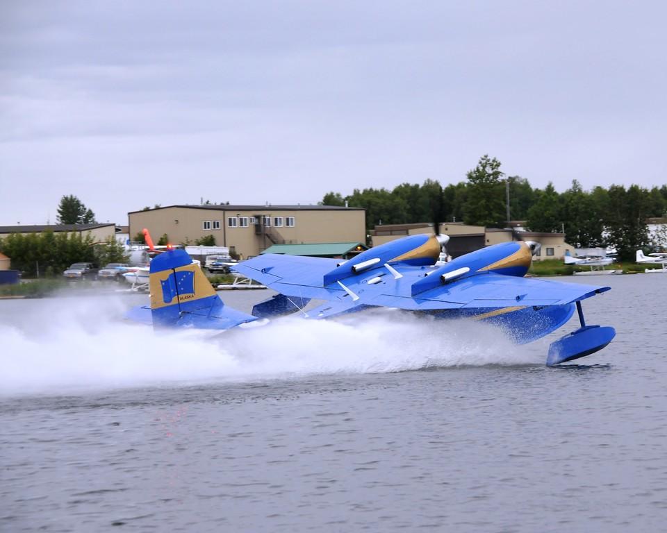 Plane - Grumman Goose - Transportation - Lake Hood - Anchorage - Alaska - USA