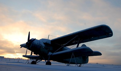 Airplane - Transportation - Merrill Field - Winter - Anchorage - Alaska - USA