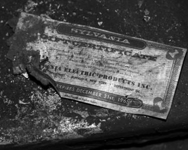 Randomness -  Old Sylvania Gift Certificate - Expiration date Dec 31, 1965 - Anchorage - Alaska - USA