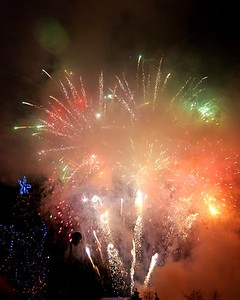 New Years Eve - Fireworks - Townsquare - Anchorage - Alaska