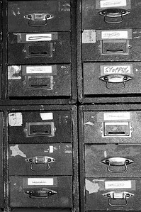 Randomness - Drawers filled with slides - Anchorage - Alaska - USA