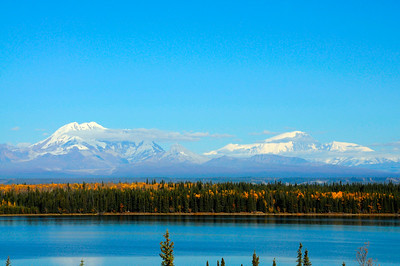 Mount Drum and Mount Sanford - Wrangell St. Elias National Park - Alaska - USA