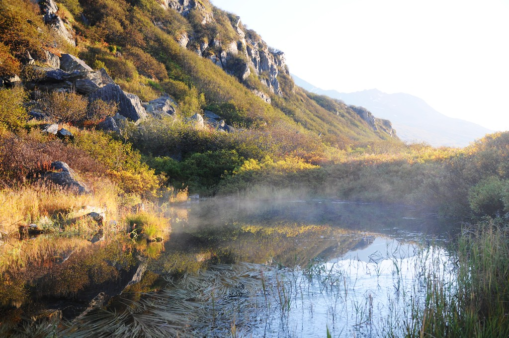 Blueberry Lake - Morning Mist - Thompson Pass - Richardson Highway - Alaska - USA