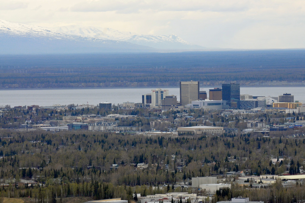 Downtown from the air - Anchorage - Alaska - USA
