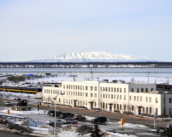 Historic Railroad Station - Downtown Anchorage - Building - Architecture -  Anchorage - Alaska - USA