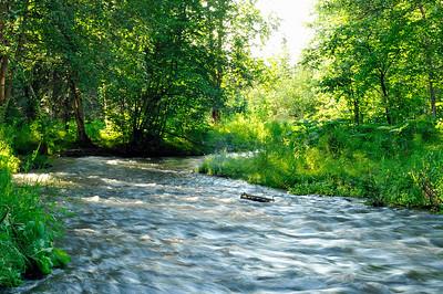 Chester Creek - Flooding - Anchorage - Alaska - USA