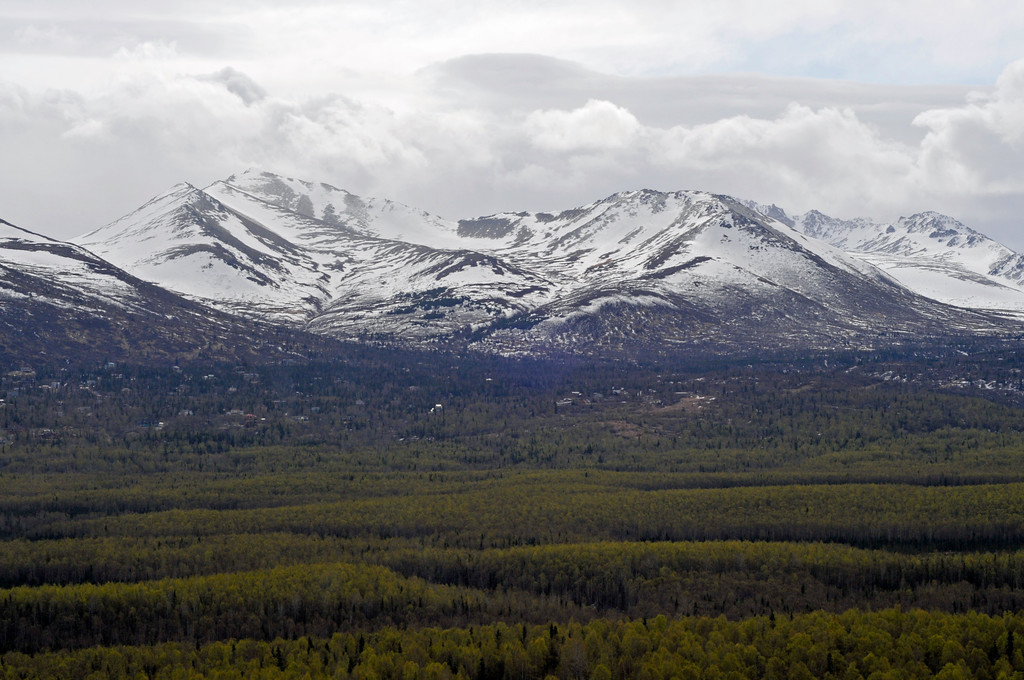 Chugach Range from the air - Anchorage - Alaska - USA