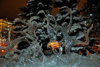 Crystal Gallery of Ice - Downtown - Alaska Winter - Anchorage - Alaska - USA