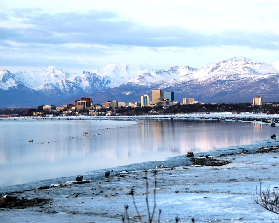 Downtown Anchorage City Scape - Building - Architecture -  Anchorage - Alaska - USA