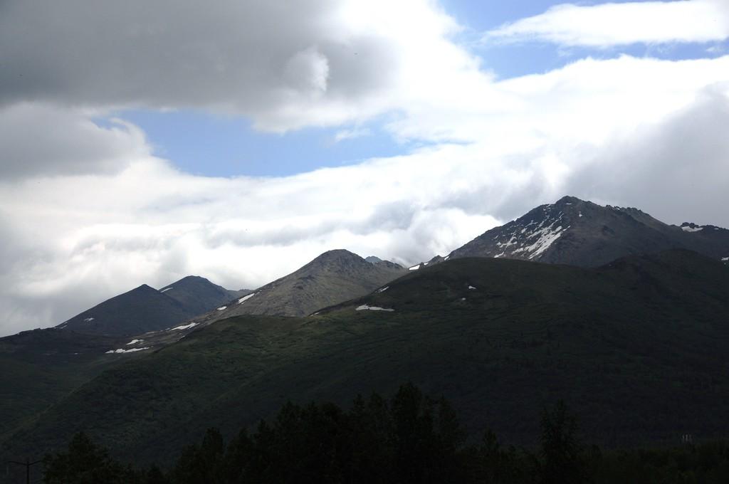 Sunbeam on Mountain - Chugach Mountains -  Anchorage - Alaska - USA
