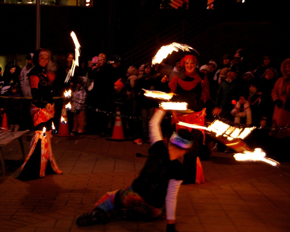 New Years Eve - Flame Twirlers - Townsquare - Anchorage - Alaska
