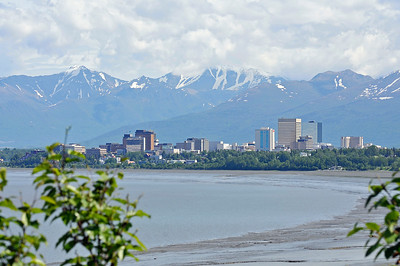 Downtown Skyline - Anchorage - Alaska - USA
