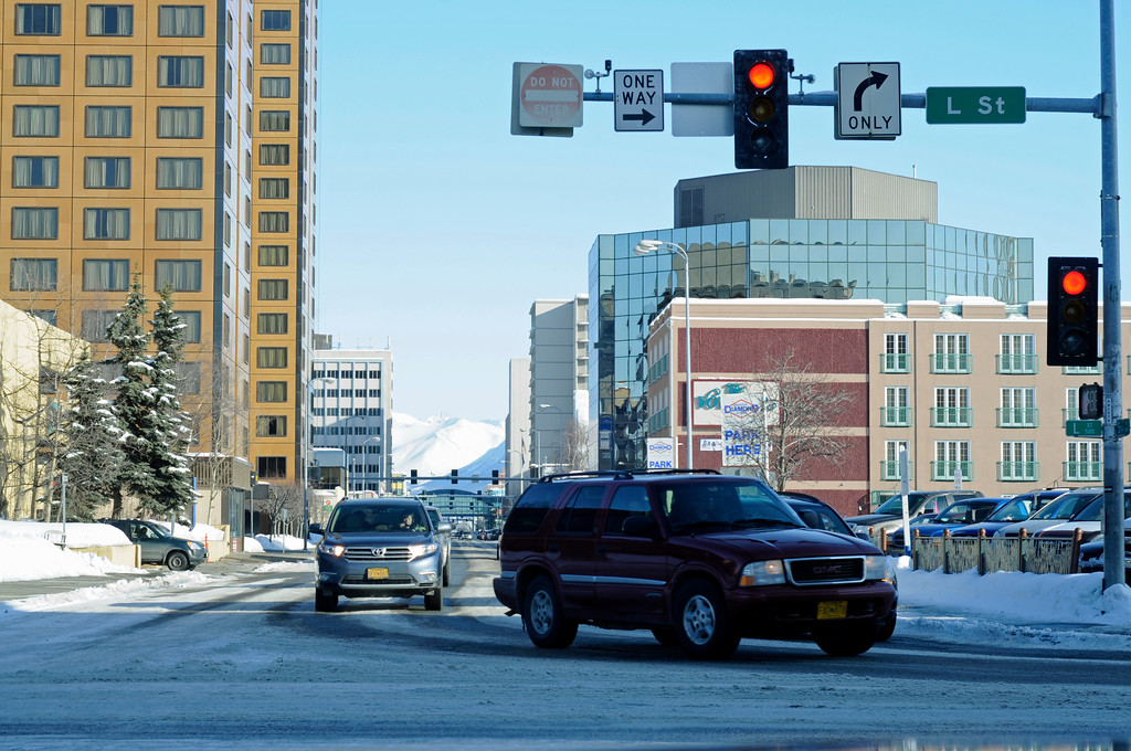 Fifth Avenue - Downtown - Anchorage - Alaska - USA