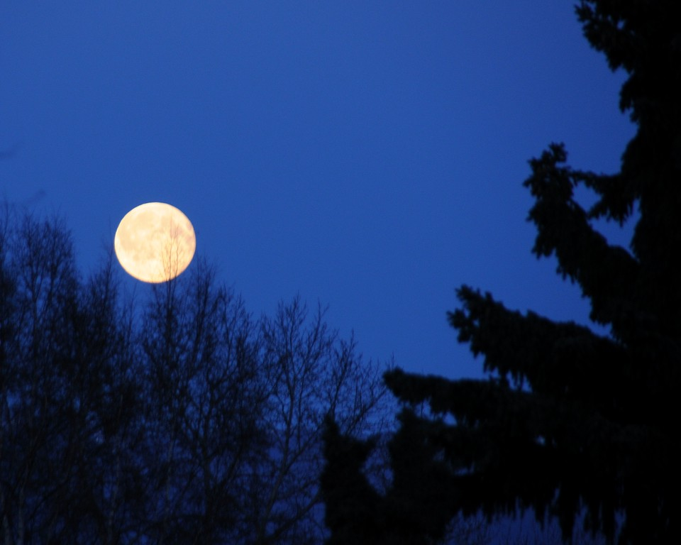 Moon - Full - Anchorage - Alaska - USA
