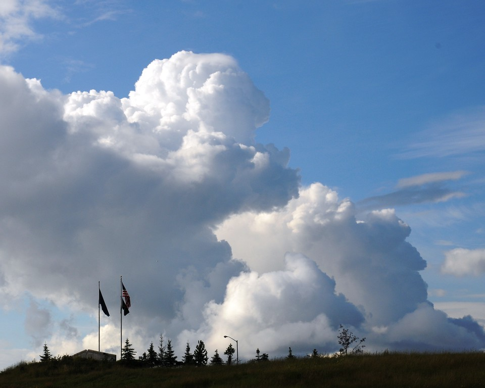 Sunny Skies - Puffy Clouds - Merrill Field - Anchorage - Alaska - USA