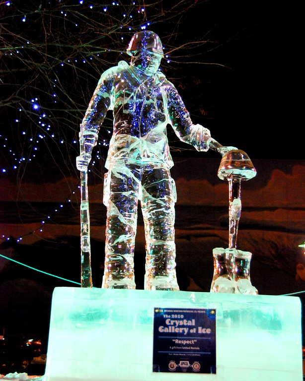 Ice Sculpture - Townsquare - Anchorage - Alaska