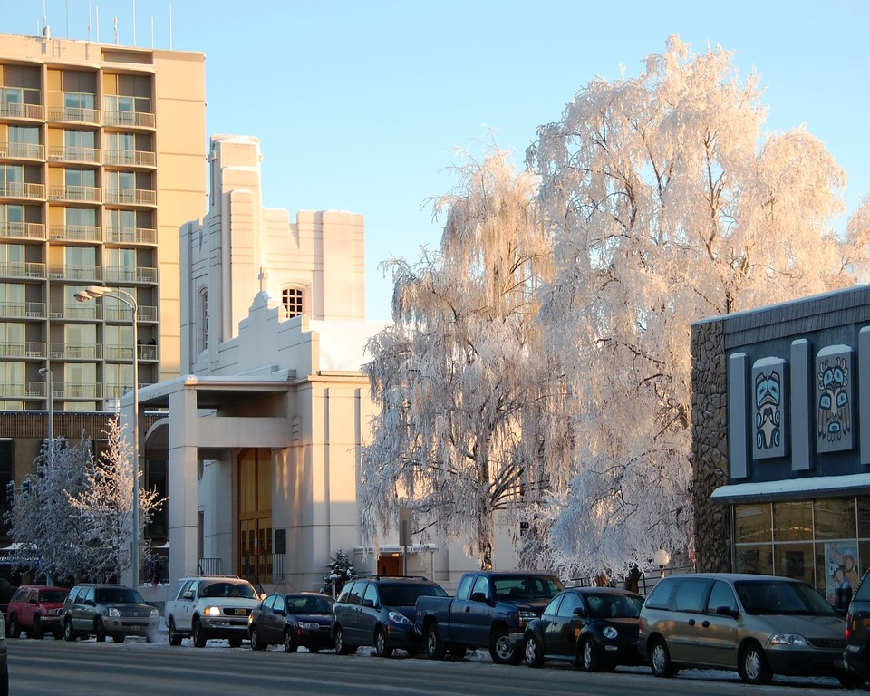 Holy Family Cathedral - Fourth Avenue - Downtown Anchorage - Building - Architecture -  Anchorage - Alaska - USA