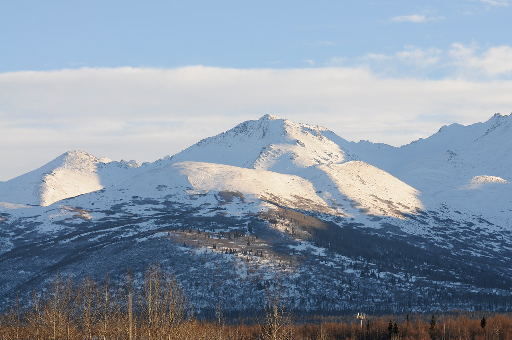Chugach Mountains - Winter - Anchorage - Alaska - USA