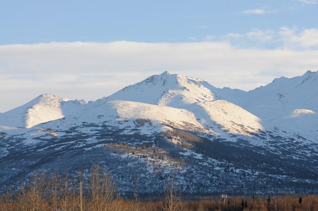 Chugach Mountains - Winter - Anchorage - Alaska - USA