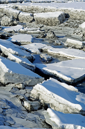 Ice at Ship Creek - Downtown - Anchorage - Alaska - USA